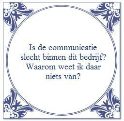 Communicatie Tegeltje